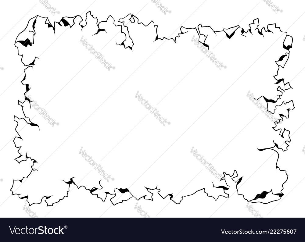 Empty old paper frame template black design
