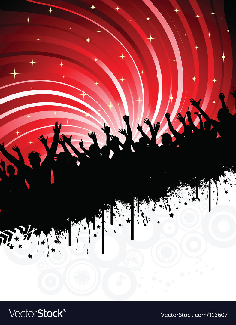 Grunge party vector image