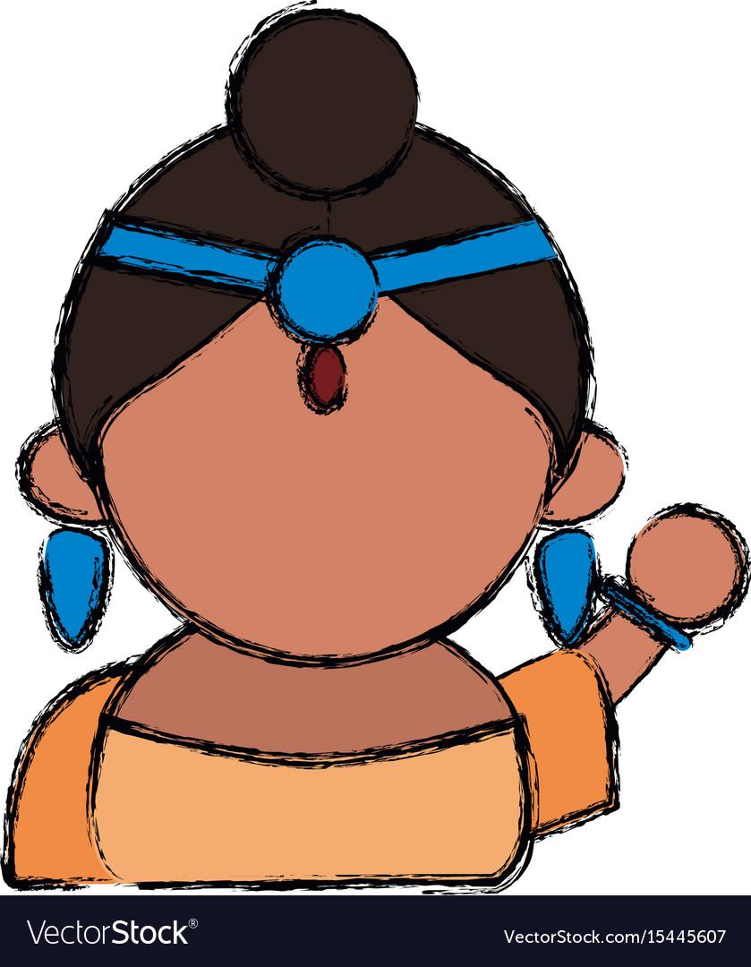Indian woman cartoon
