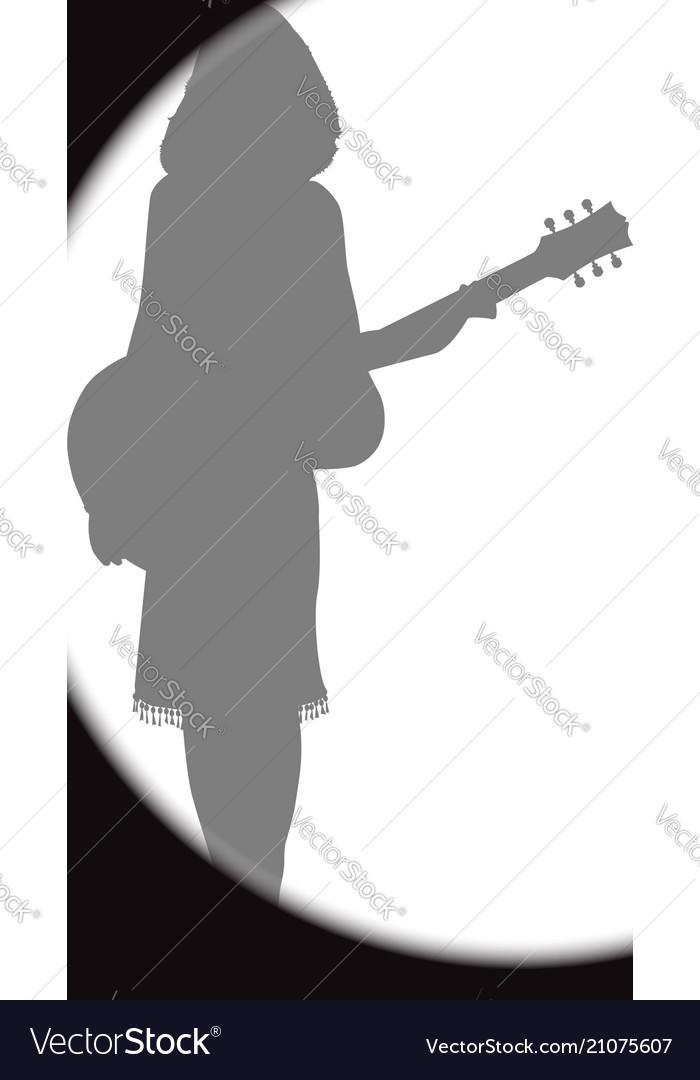 Performer spotlight vector image