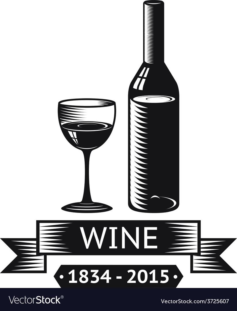 Wine Alcohol Drink Logo Symbol Bottle Glass