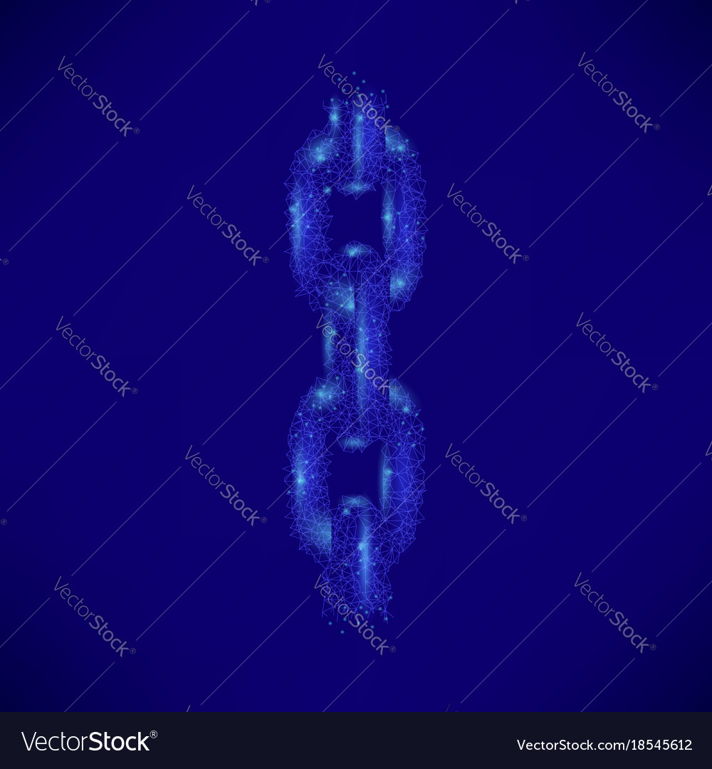 Blue polygonal chain