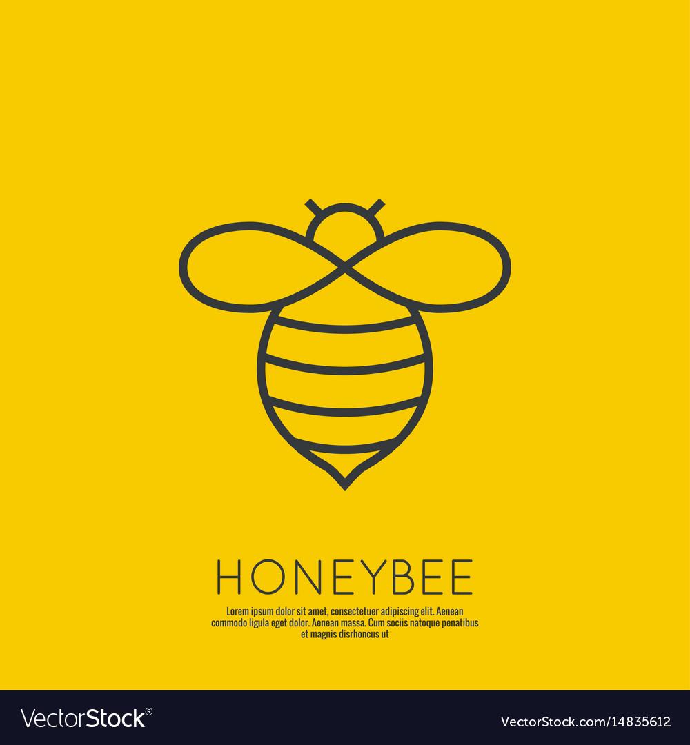 Icon honey bees