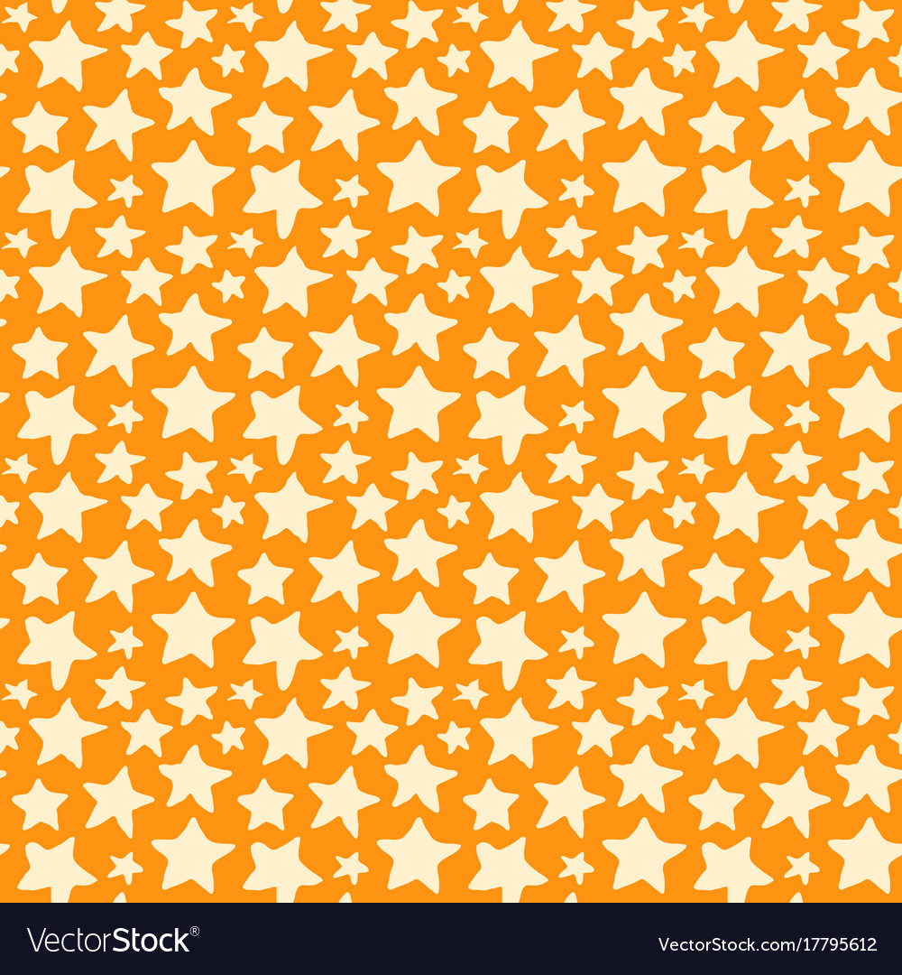 Seamless pattern with doodle stars
