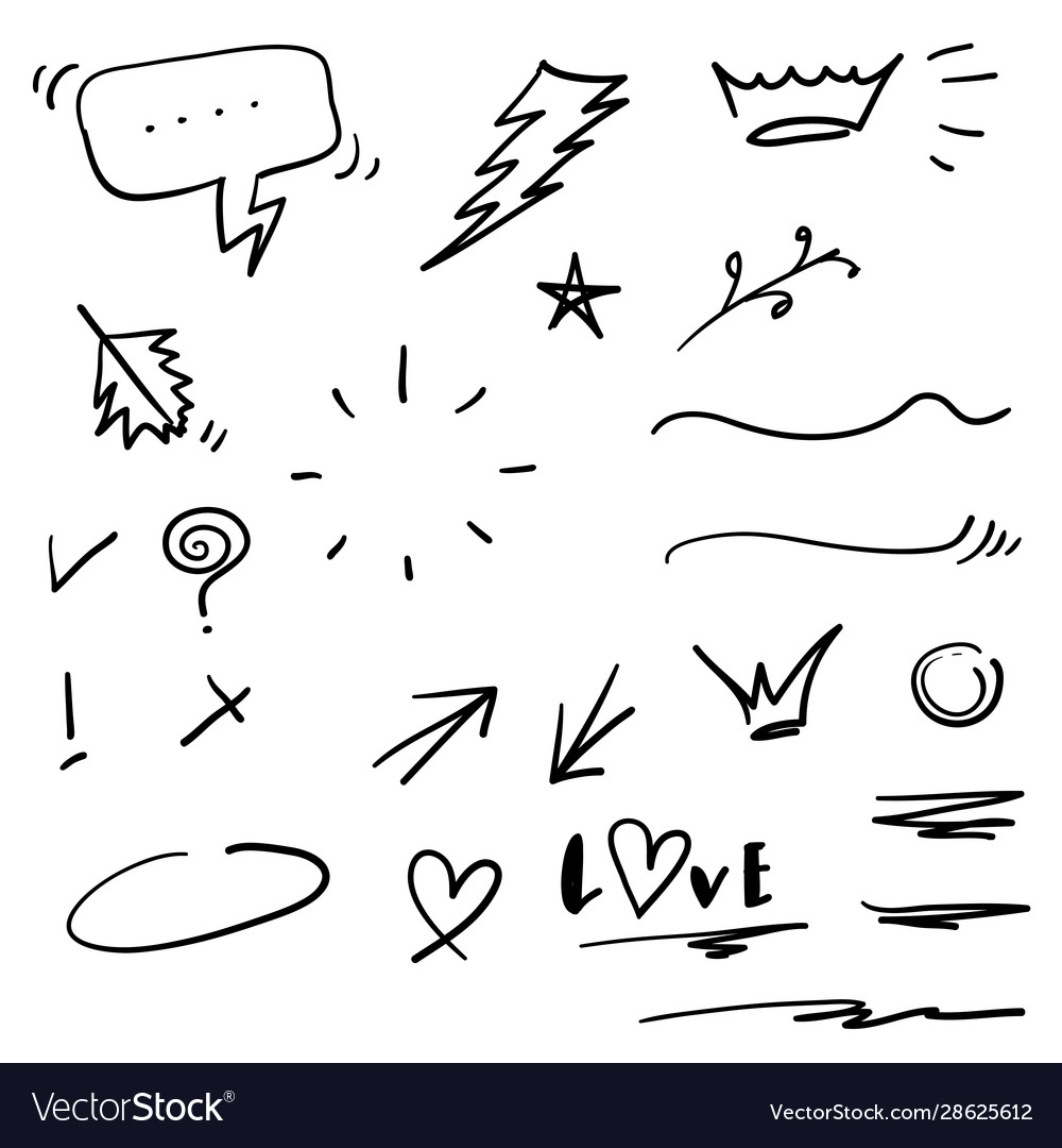 swishes swoops emphasis doodles highlight text vector image  vectorstock