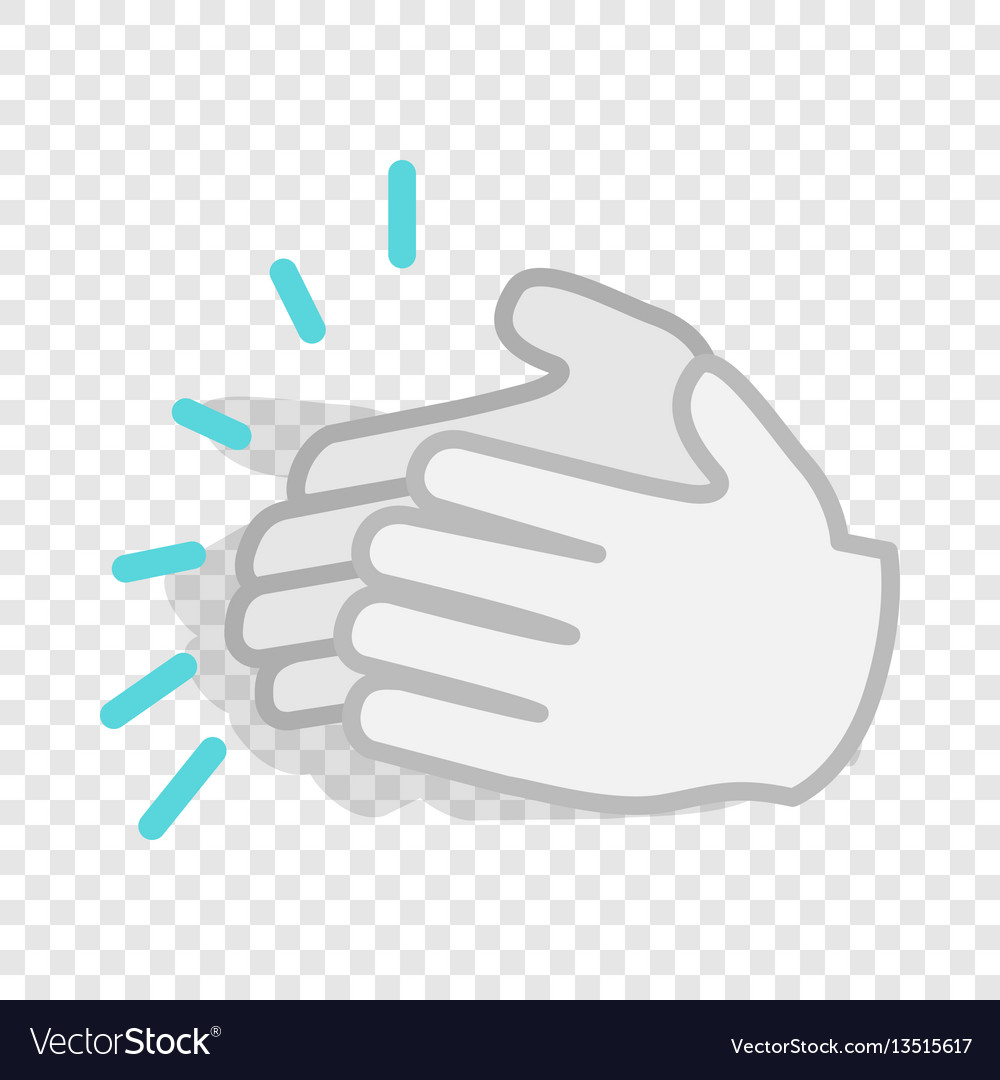 Applause clapping hands isometric icon