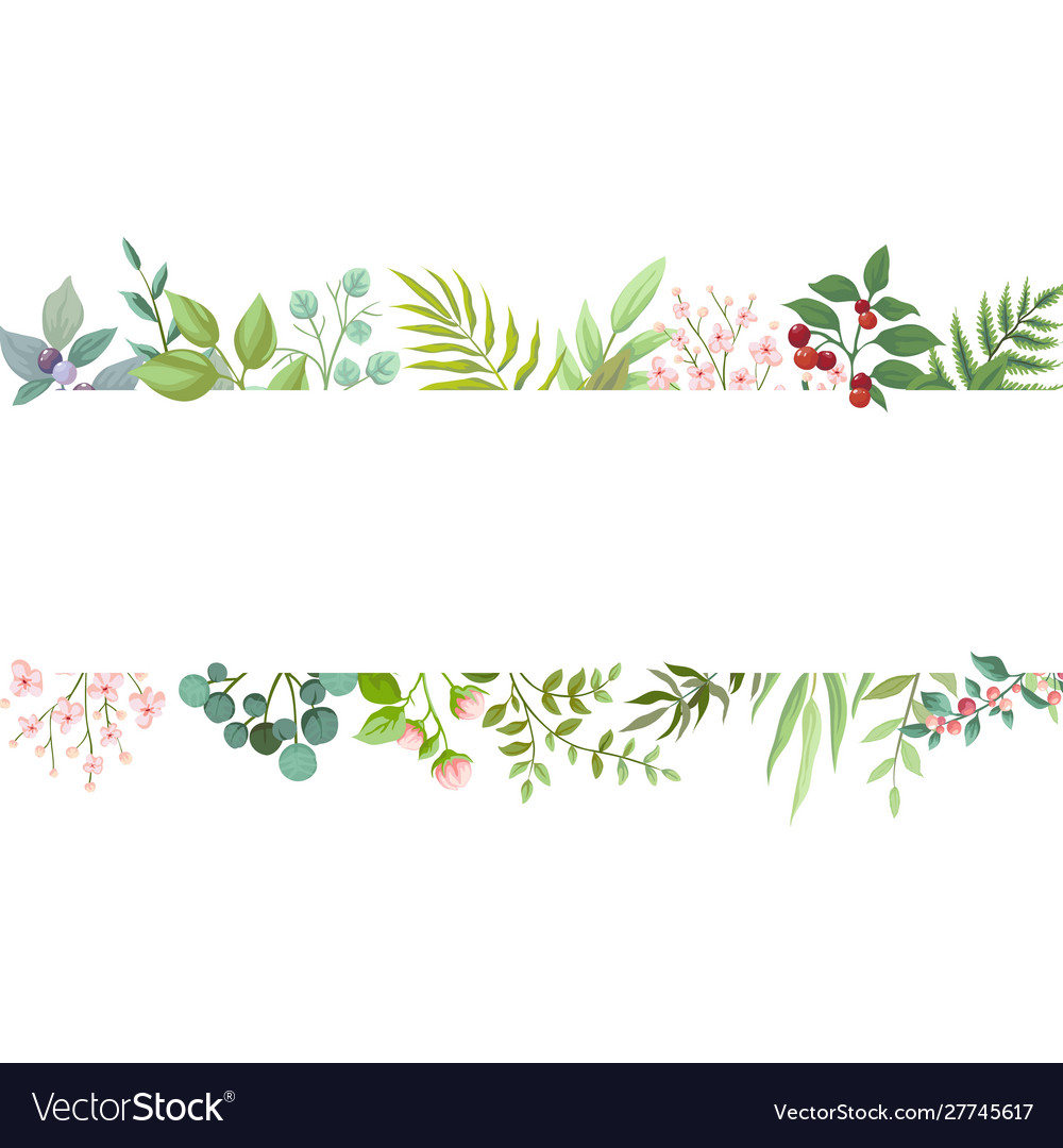 Floral greenery card design wedding invite