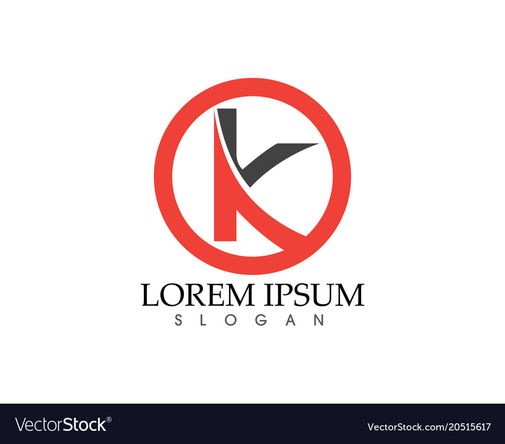 K Letter Abstract Business Logo Symbol Royalty Free Vector