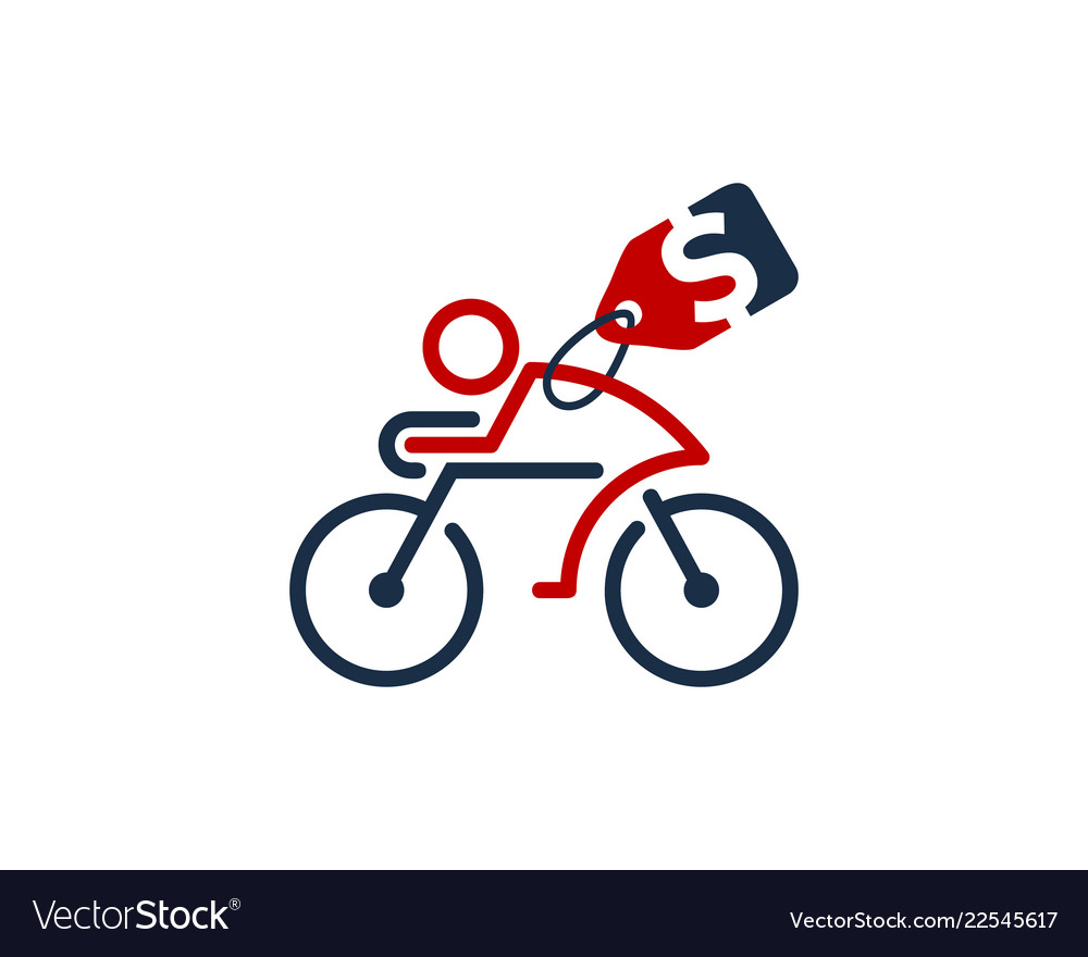 Label bike logo icon design