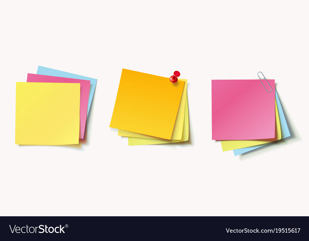 Stack of color stickers