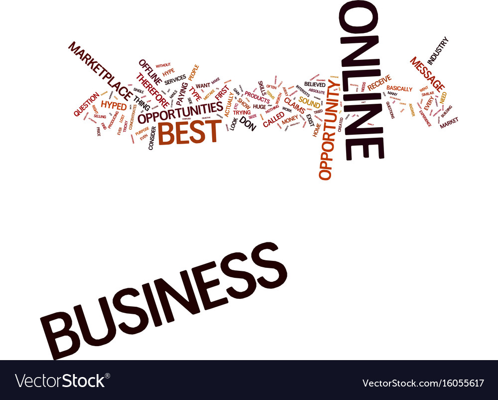 The Best Business Online Text Background Word