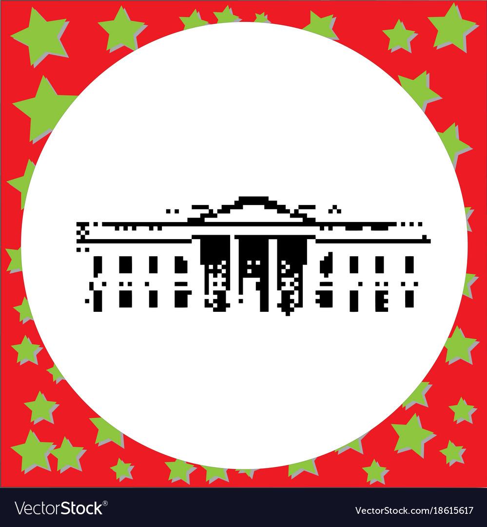 White house in washington dc united states black