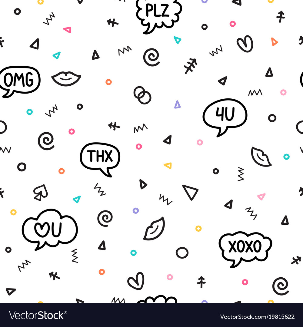 Abstract seamless pattern with different design