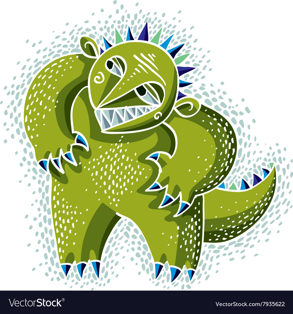 cute halloween character ogre fictitious creature vector image