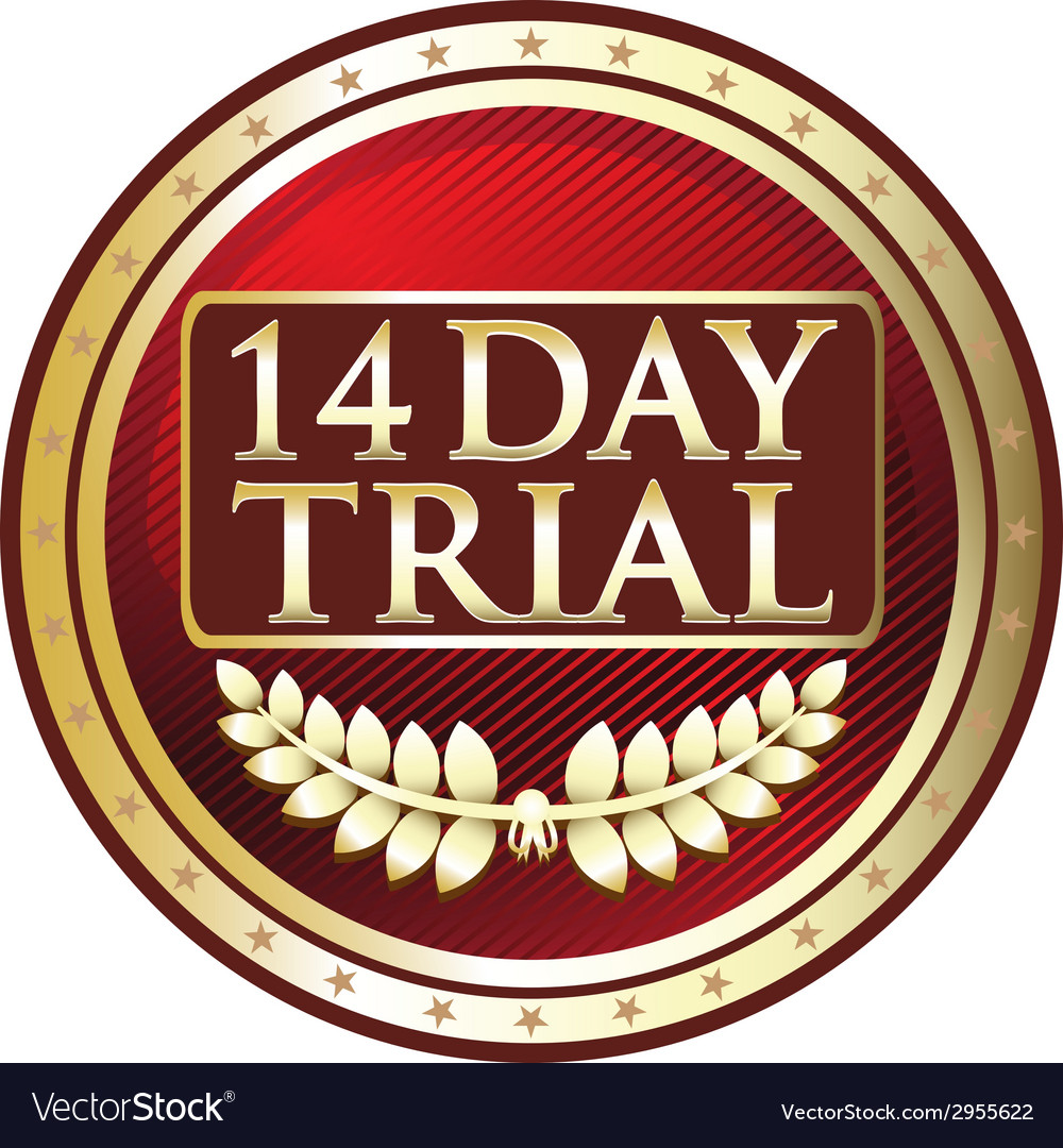 Fourteen Day Trial Label vector image