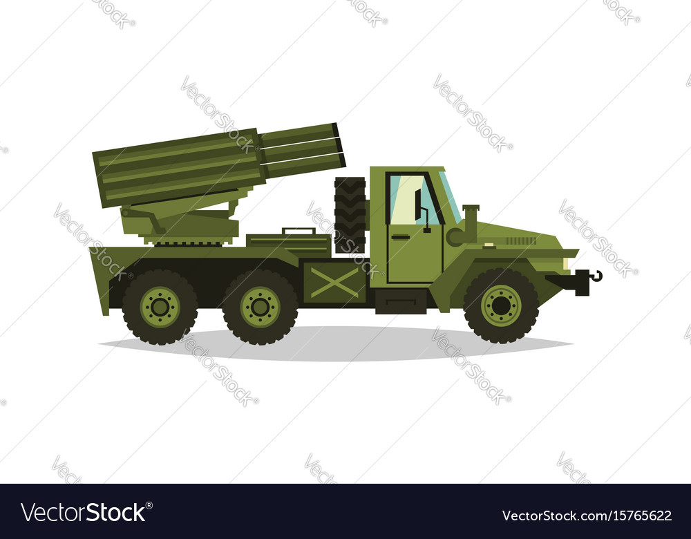 Multiple launch rocket systems rockets and shells vector image