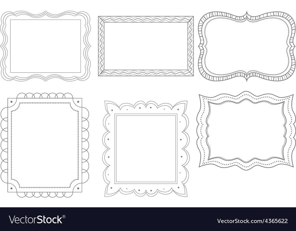 Ornate doodle frames