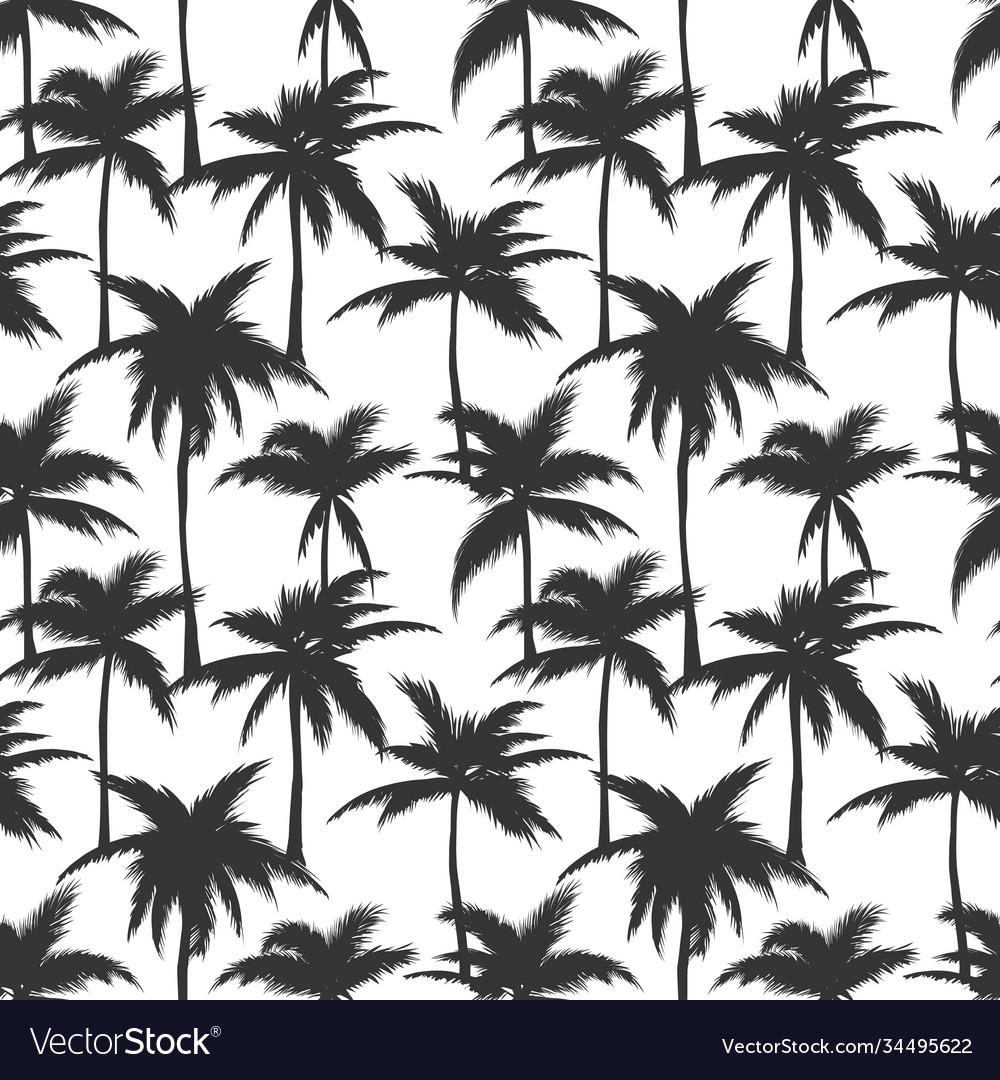 Palm trees black print