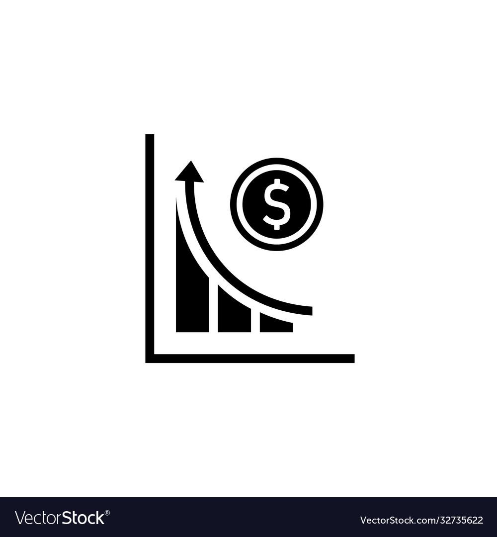 Revenue concept icon money increase symbol chart