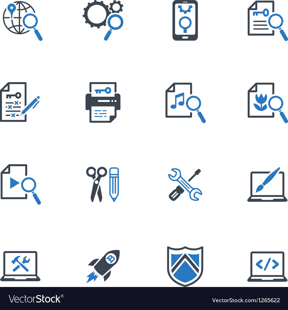 SEO and Internet Marketing Icons Set 1-Blue Series
