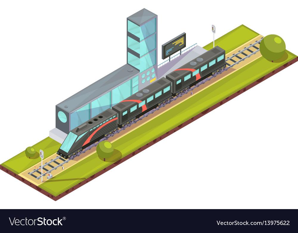 Suburban train terminal composition