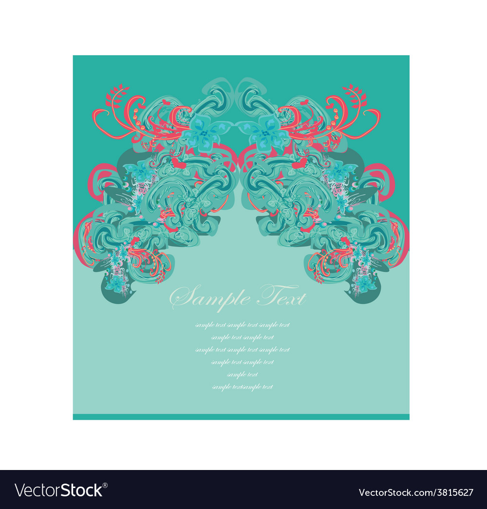 Art for decoration card