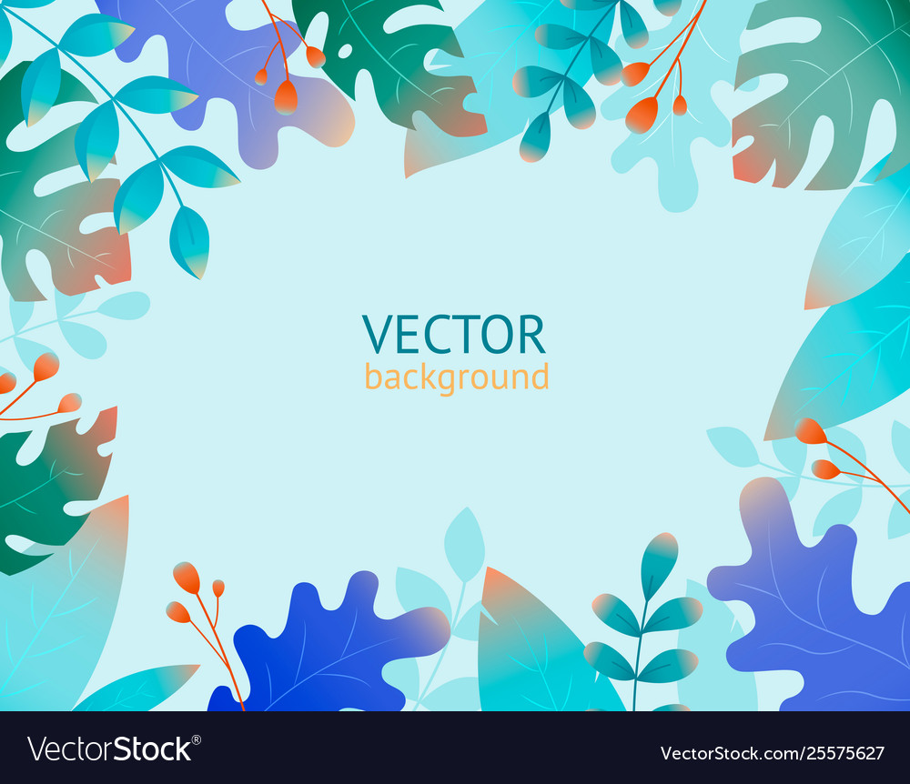 Collection with plant flat jungle print template