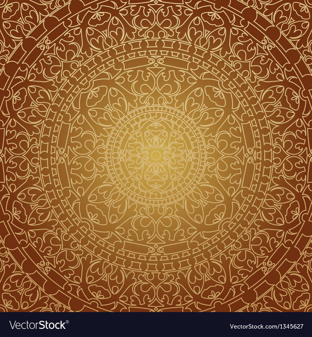 Oriental brown decoration