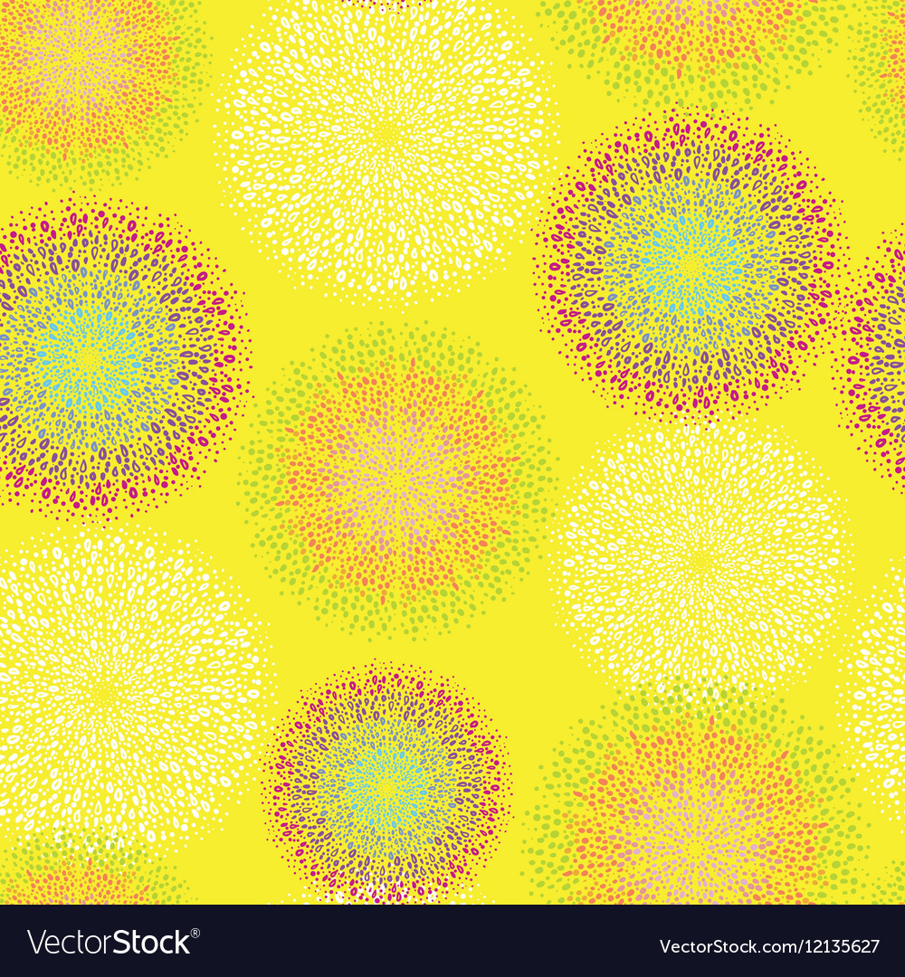 Pattern on abstract yellow vector image