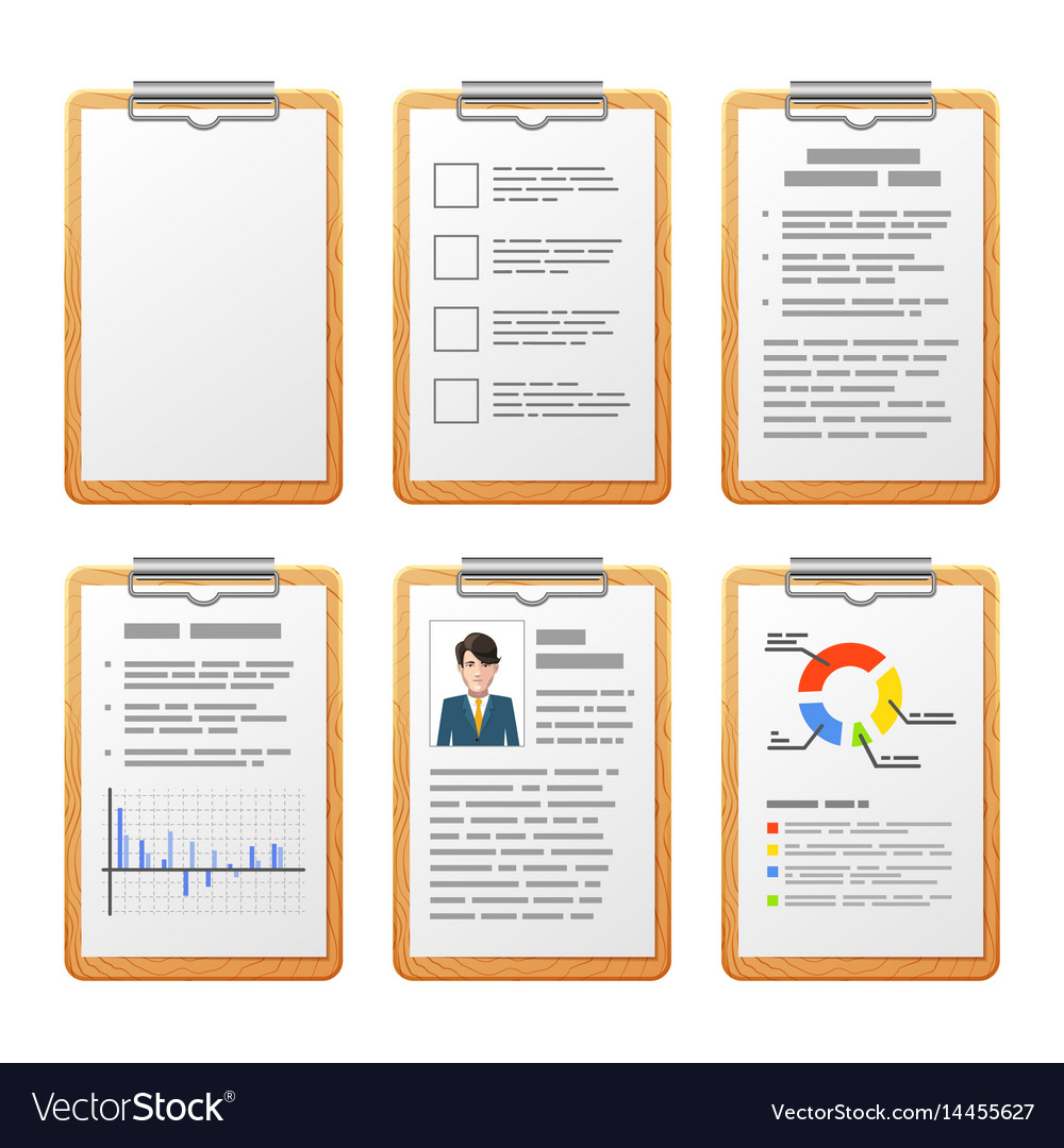Realistic checklist on wooden board isolated on