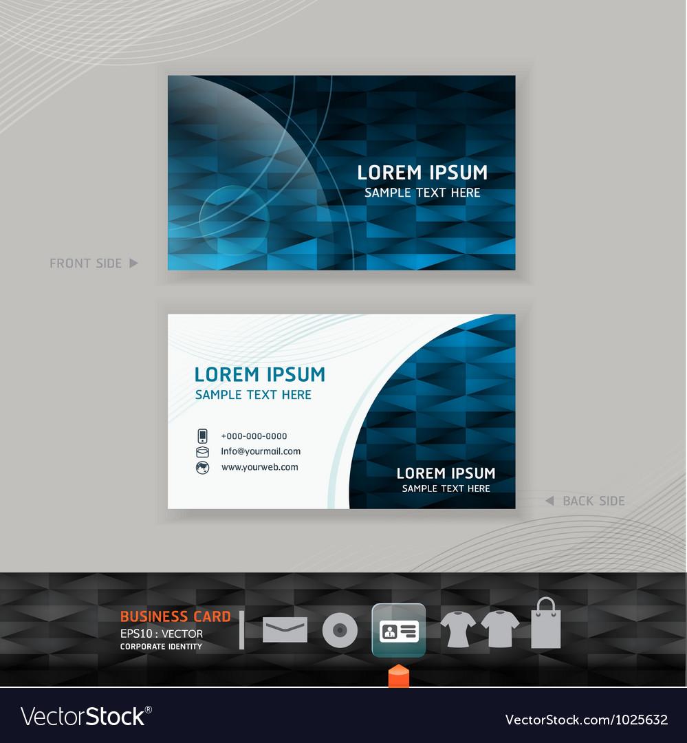 Abstract modern business-card design