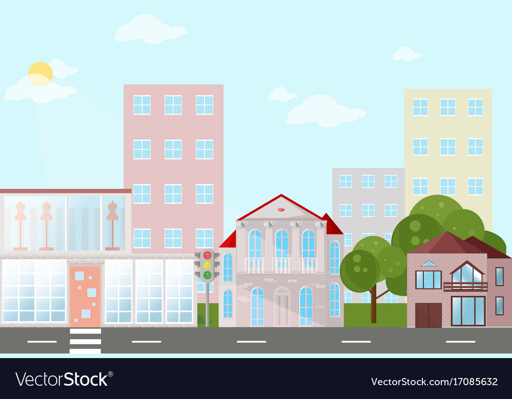 Buildings houses village architecture modern flat