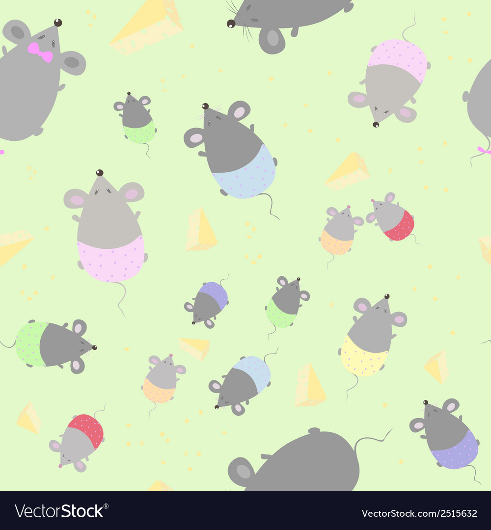 Childrens seamless texture with mice