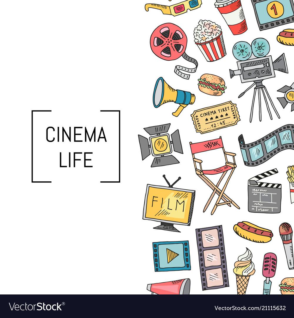 Cinema icons background