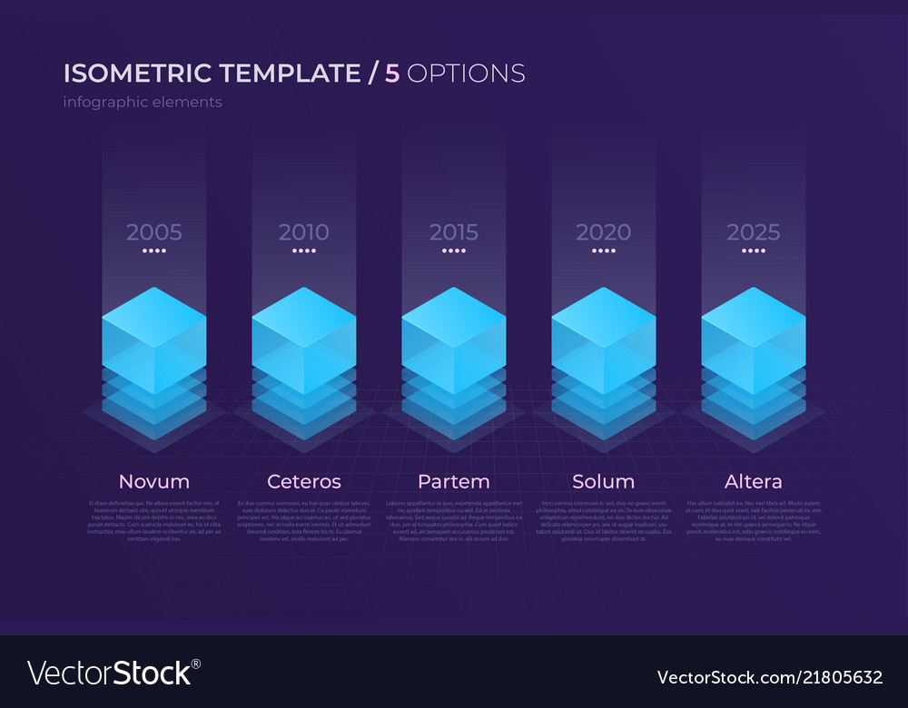 Design with isometric elements template
