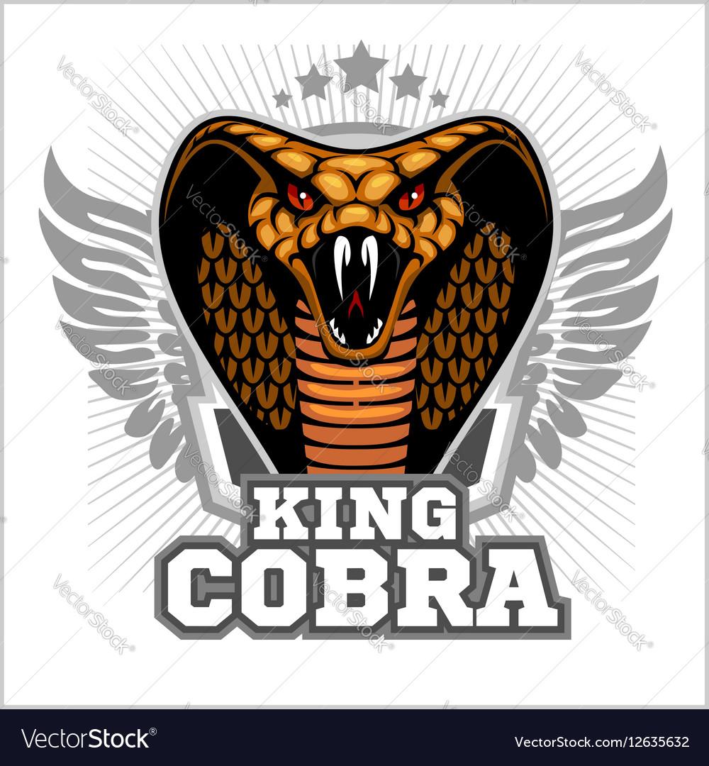 King cobra - mascot template design