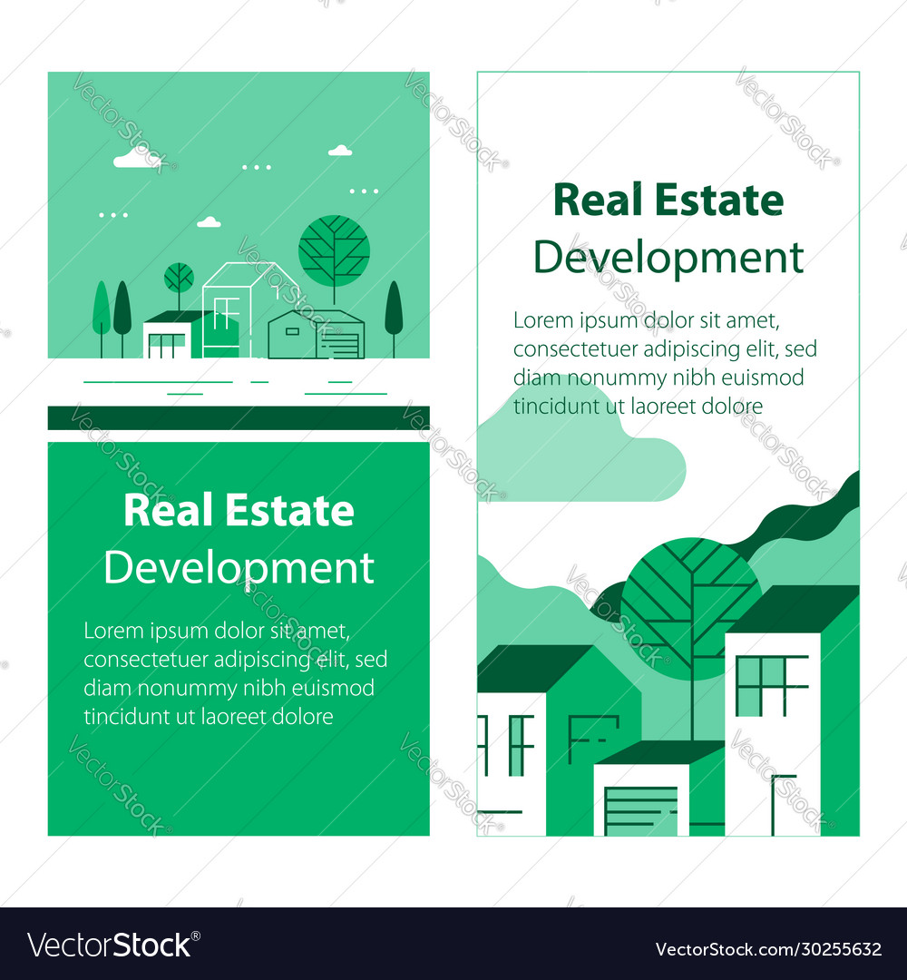 Real estate development residential building