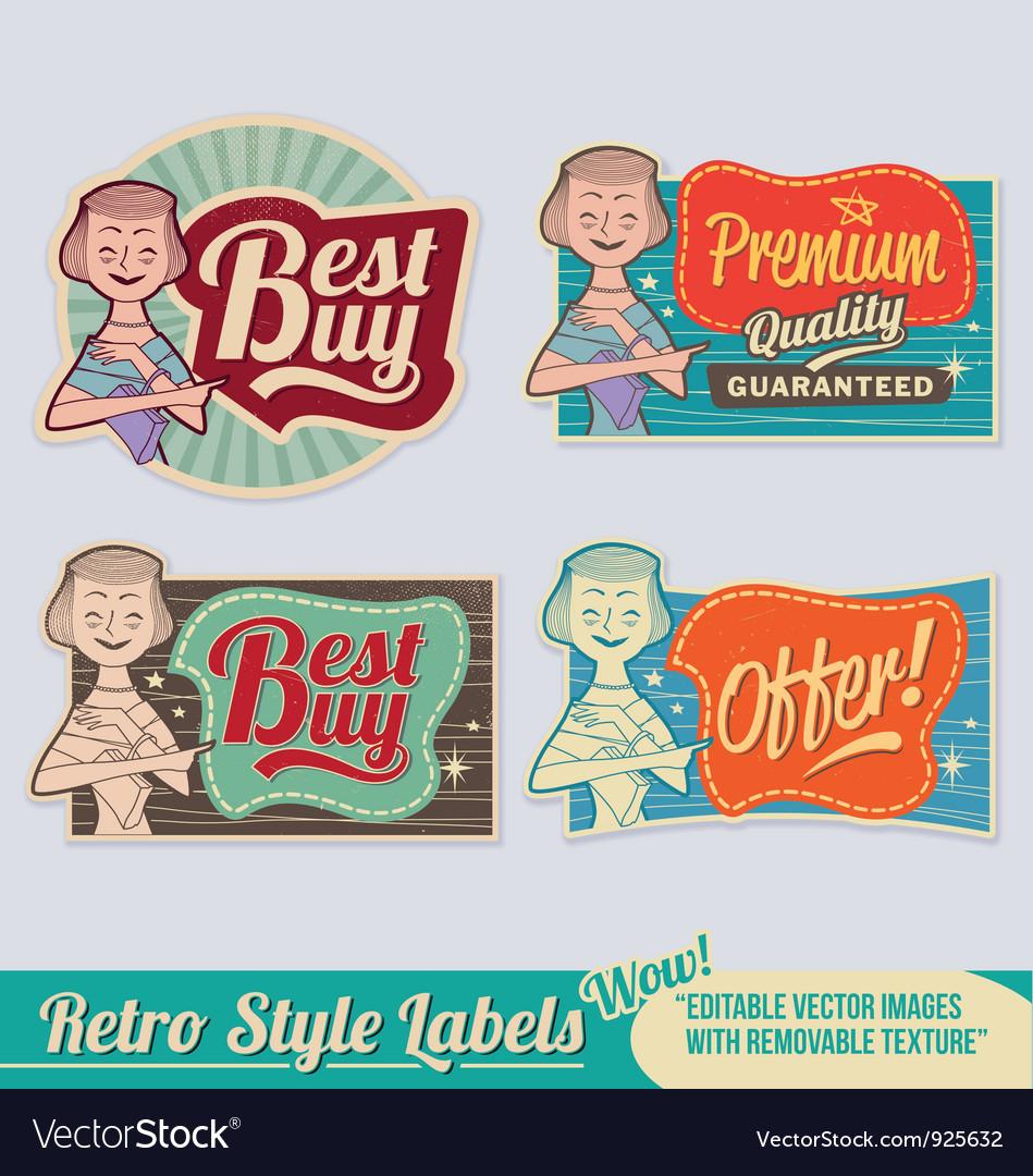 Retro label set