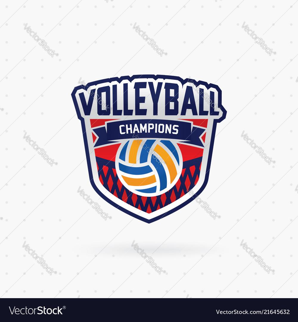 Volleyball championship emblem