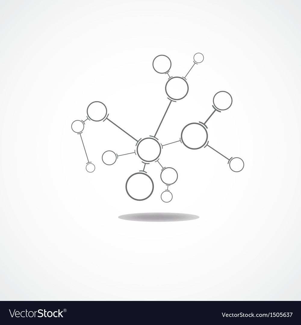 Abstract connection of cells vector image