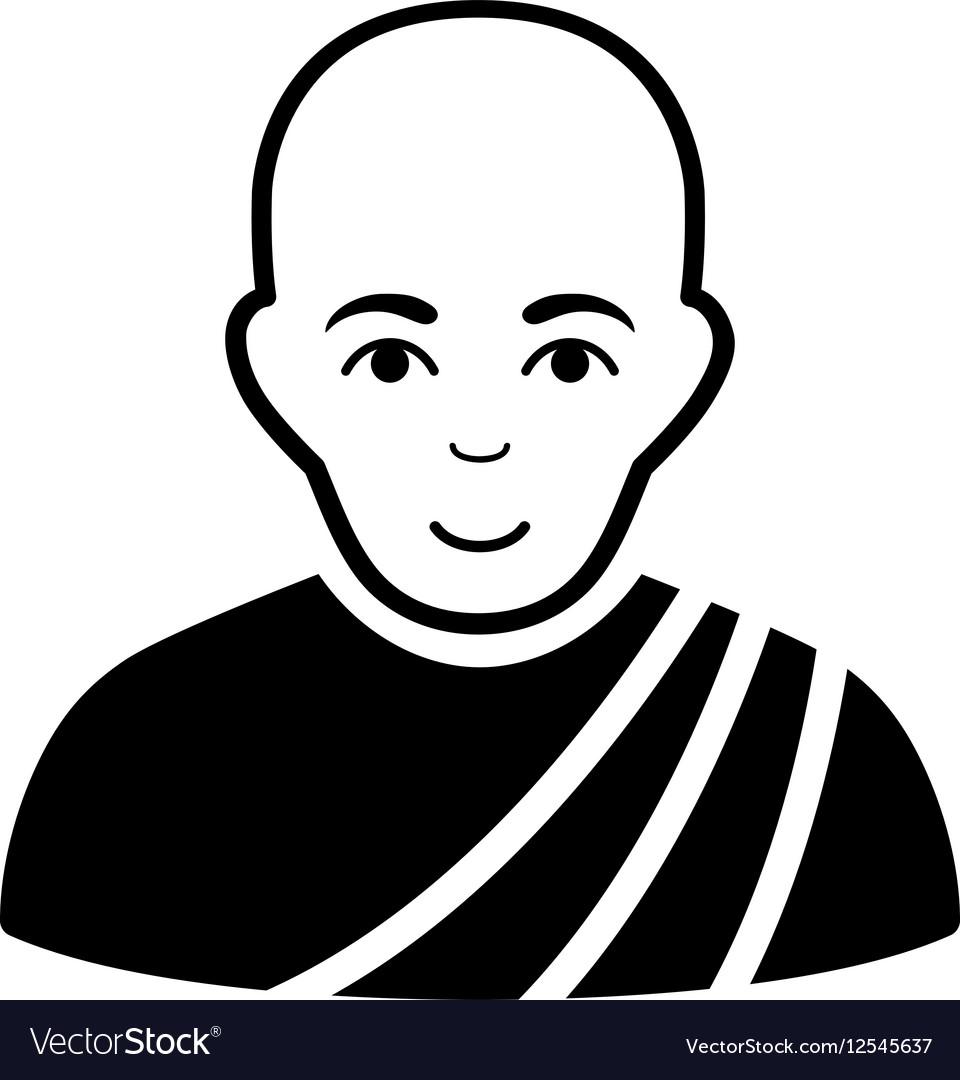 Buddhist Monk Flat Icon