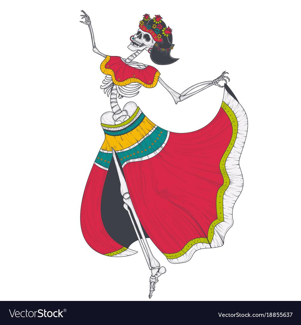 Dancing female skeleton