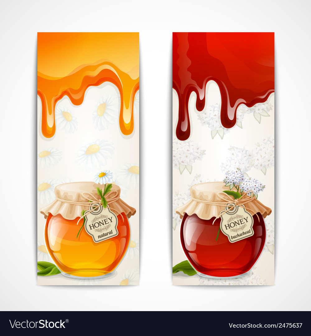Honey banners vertical