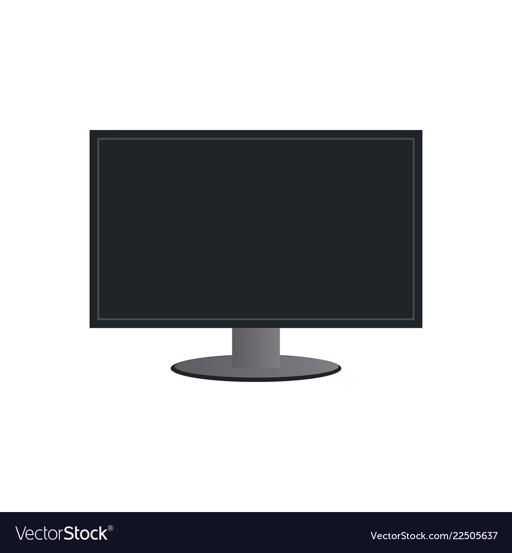 Monitor lcd logo icon design template