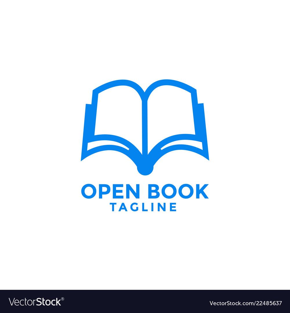 Open book logo icon design template
