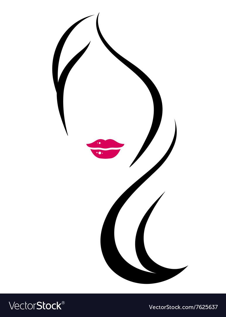 woman silhouette with long hair royalty free vector image rh vectorstock com vector hair vector haircut