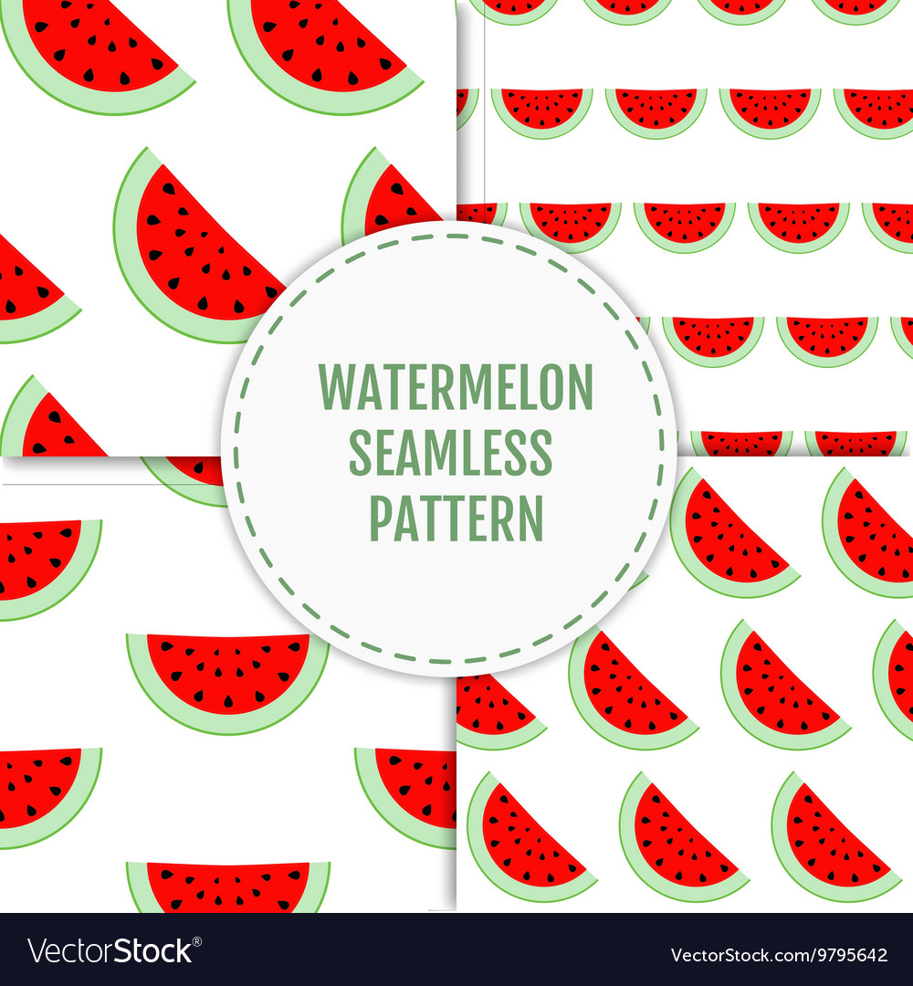 Colorful seamless patterns watermelon slices