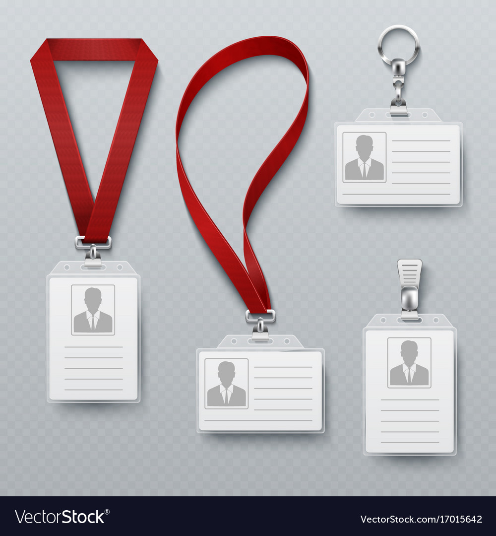 id security cards and identification badge with vector image