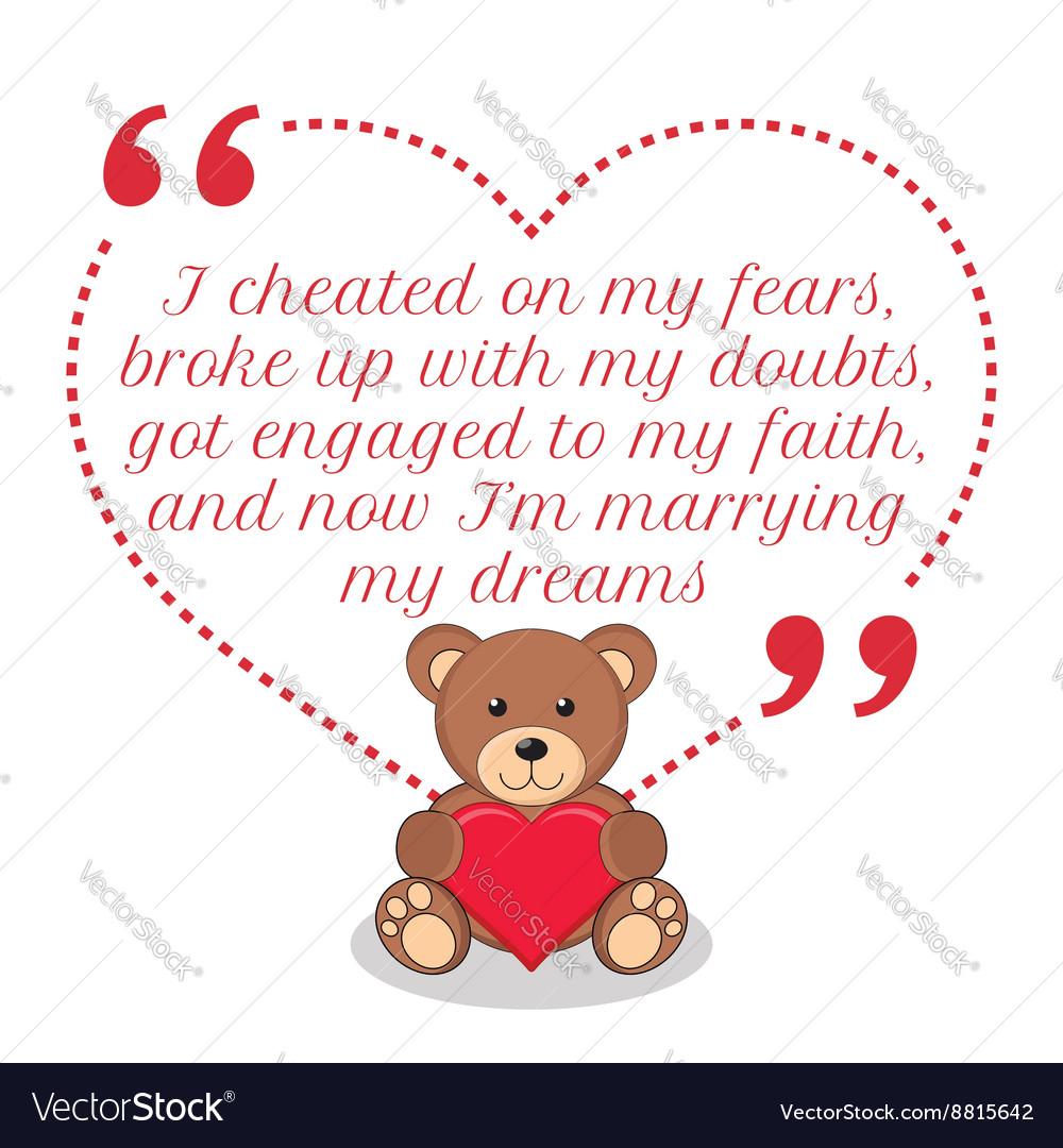 Inspirational love quote Simple cute design
