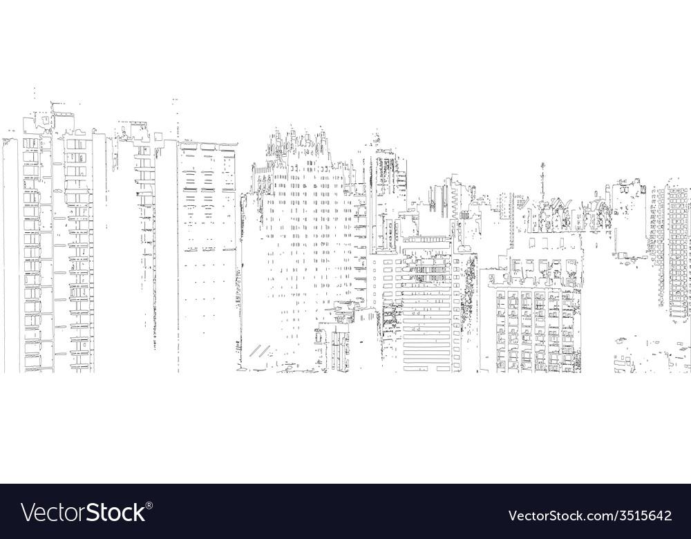 Panorama of the city cartoon